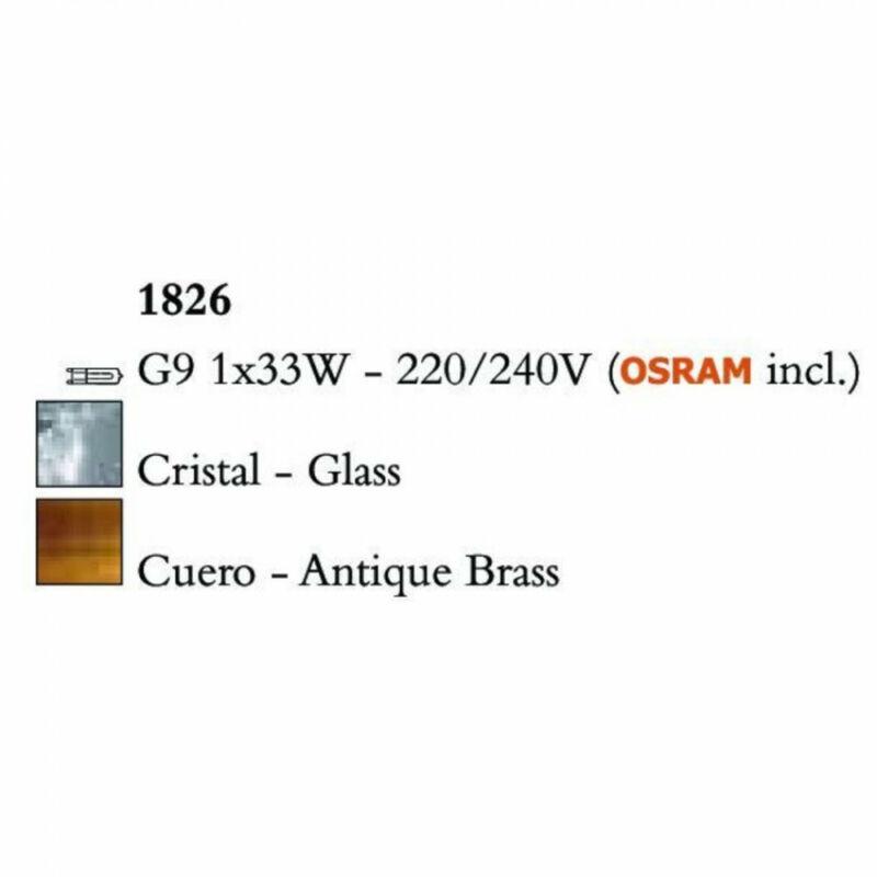 Mantra LOOP 1826 falikar sárgaréz fém 1xG9 max. 33W G9 1 db