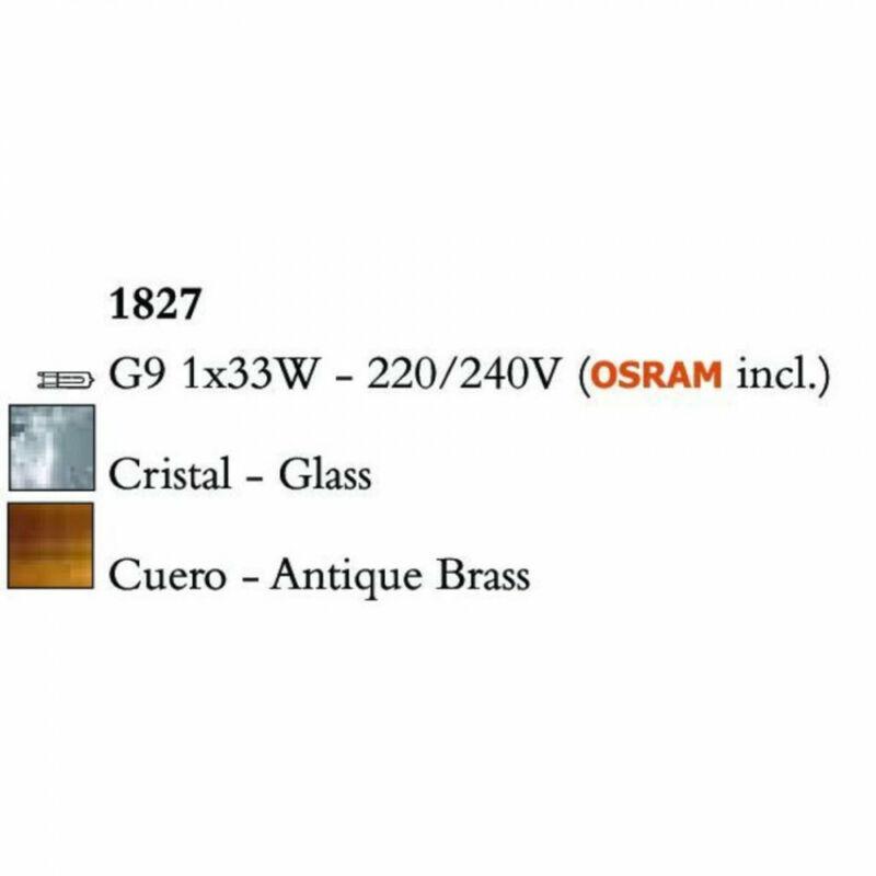 Mantra LOOP 1827 asztali lámpa sárgaréz fém 1xG9 max. 33 W G9 1 db