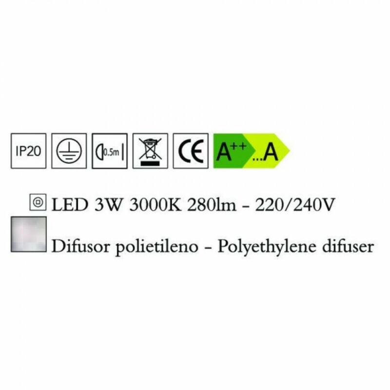 Mantra EOS 1885 fali lámpa opál műanyag 1xLED max. 3W LED 280 lm 2700 K IP44