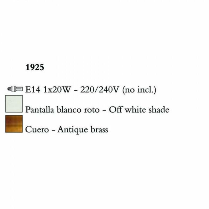 Mantra NINETTE 1925 asztali lámpa sárgaréz fém 1xE14 max. 20W E14 1 db
