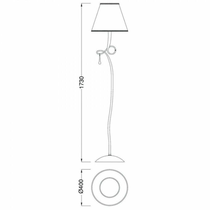 Mantra PAOLA 3533 állólámpa ezüst fém 1xE27 max. 100W E27 1 db IP20