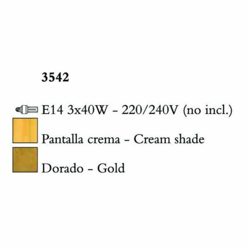 Mantra PAOLA 3542 csillárok nappaliba arany fém 3x E14 max. 40W E14 3 db IP20