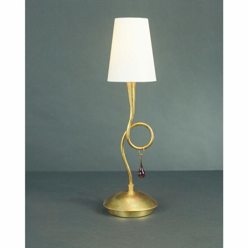 Mantra PAOLA 3545 asztali lámpa arany fém 1xE14 max. 40W E14 1 db IP20