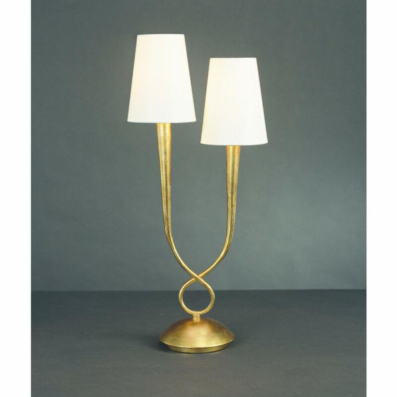 Mantra PAOLA 3546 asztali lámpa arany fém 2xE14 max. 40W E14 2 db IP20