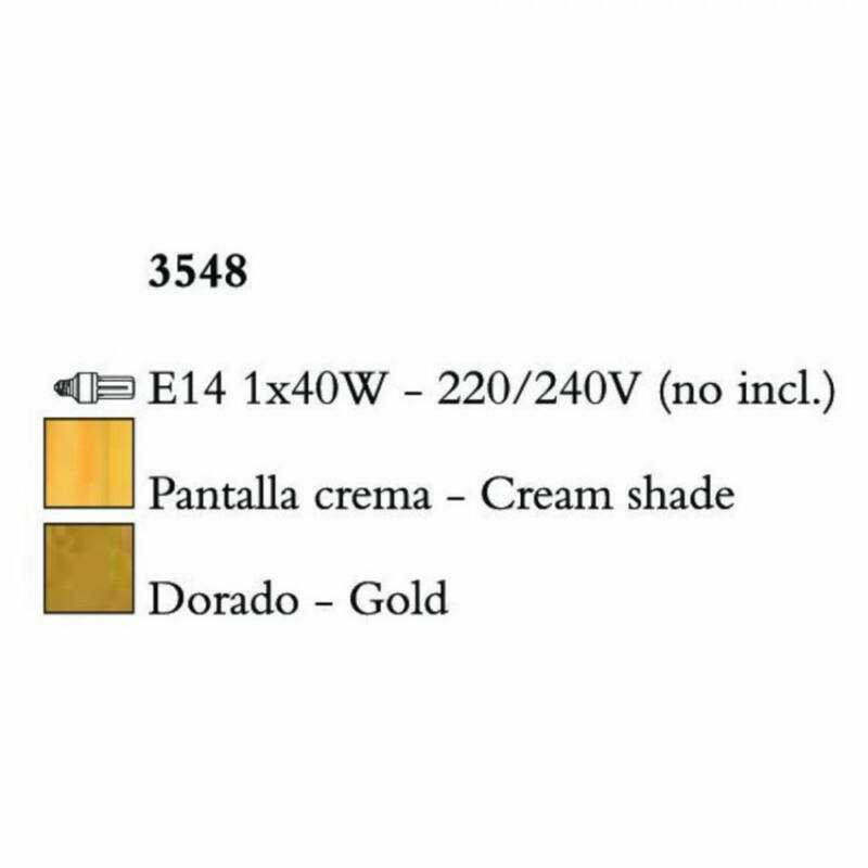 Mantra PAOLA 3548 falikar arany fém 1xE14 max. 40W E14 1 db IP20