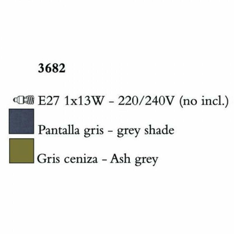 Mantra LUA 3682 asztali lámpa sötétszürke fém 1xE27 max. 13W E27 1 db