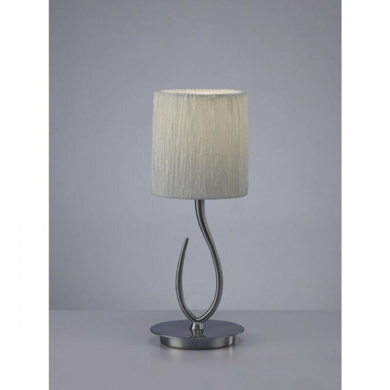 Mantra LUA 3702 asztali lámpa szatinált nikkel fém 1xE27 max. 13W E27 1 db