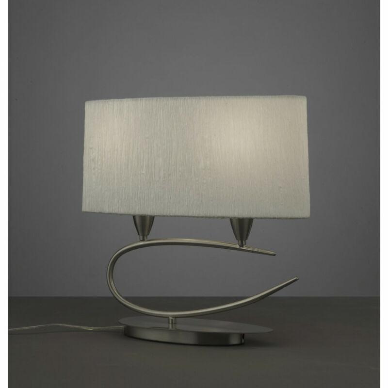 Mantra LUA 3703 asztali lámpa szatinált nikkel fém 2xE27 max. 13W E27 2 db
