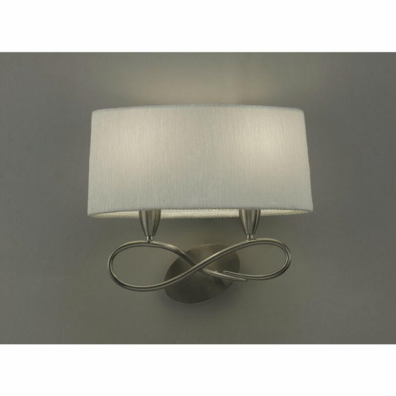 Mantra LUA 3707 falikar szatinált nikkel fém 2xE27 max. 13W E27 2 db