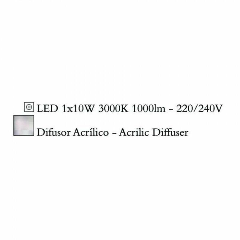 Mantra QUATRO 3767 mennyezeti lámpa műanyag 10W LED LED 1000 lm 2700 K IP20