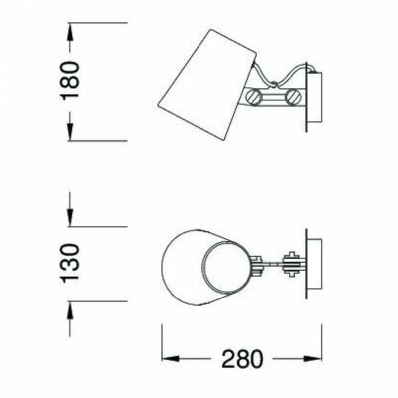 Mantra LOOKER 3772 fali olvasólámpa fém 1xE27 max 15W E27 1 db IP20