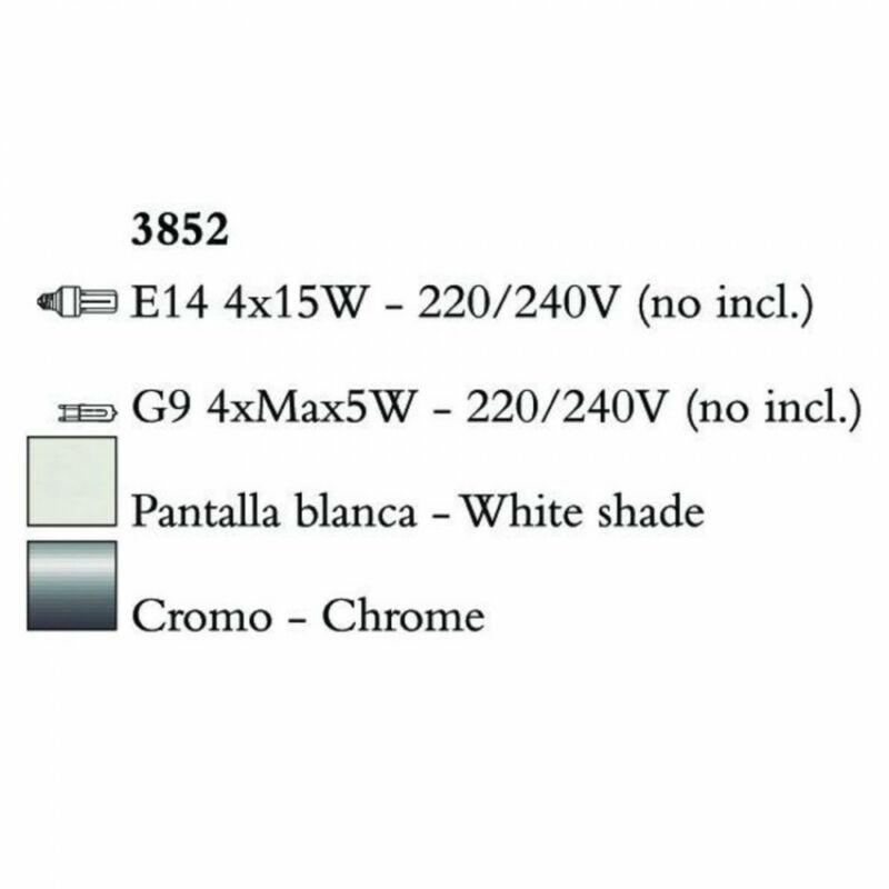 Mantra TIFFANY 3852 csillárok nappaliba króm fém 4xE14 max. 15W;4xG9 max. 33W E14 8 db