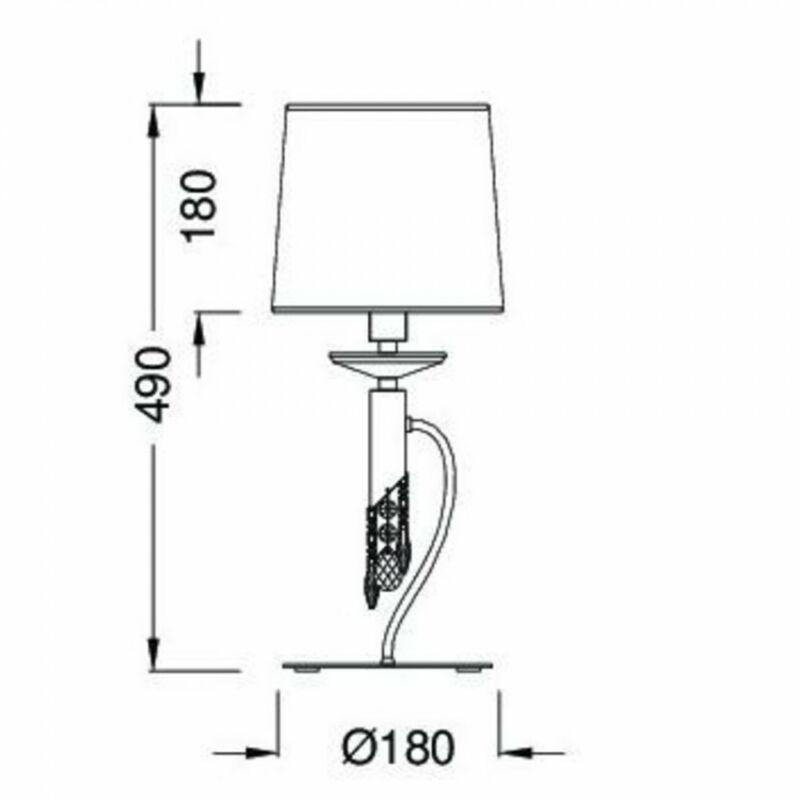 Mantra TIFFANY 3868 asztali lámpa króm fém 1xE14 max. 50W;1xG9 max. 33W E14 2 db