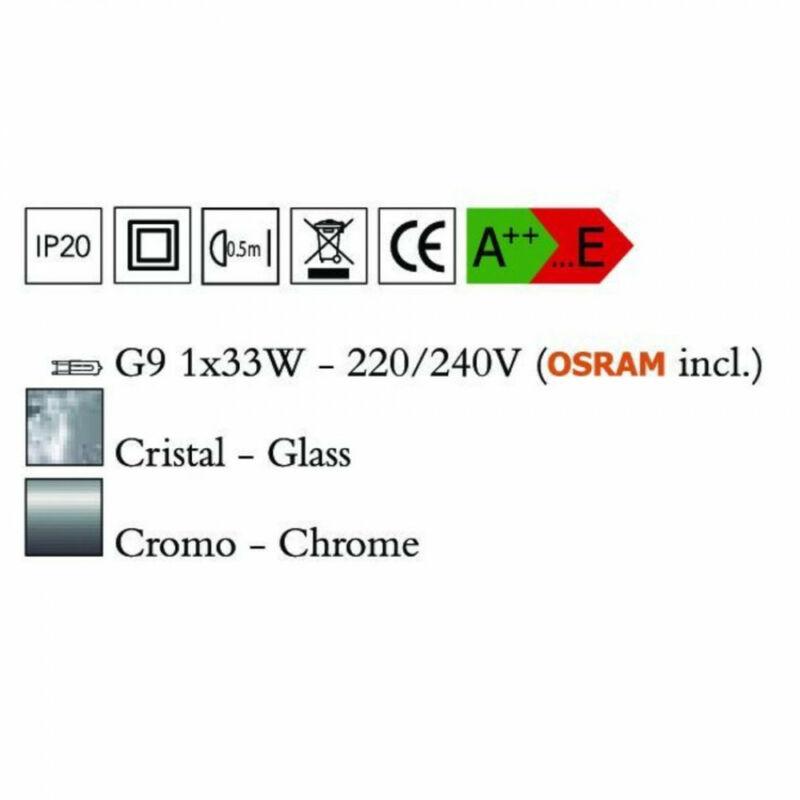 Mantra O2 3928 asztali lámpa króm fém 1xG9 max. 33W G9 1 db