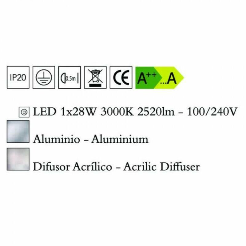 Mantra HEMISFERIC 4080 modern függeszték alumínium alumínium LED 28W LED 1 db 2520 lm 3000 K