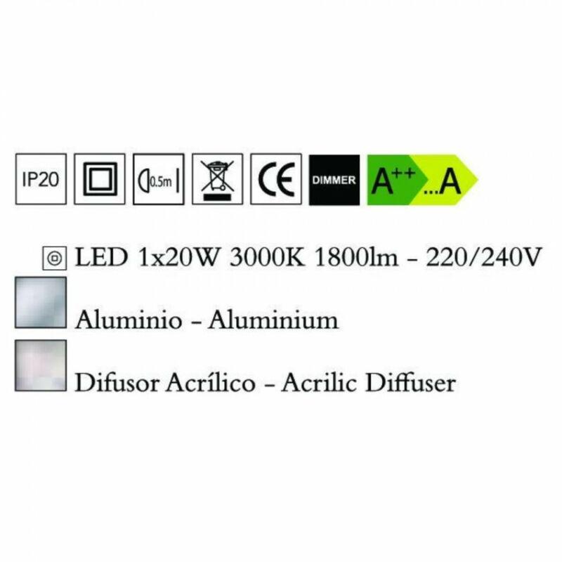 Mantra HEMISFERIC 4086 állólámpa alumínium alumínium LED 20W LED 1 db 1800 lm 3000 K