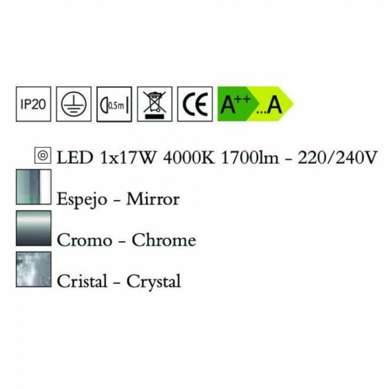 Mantra CRYSTAL LED 4581 mennyezeti kristálylámpa  króm   fém   1xLED max. 18W   LED   1 db  1800 lm  4000 K  IP20   A++