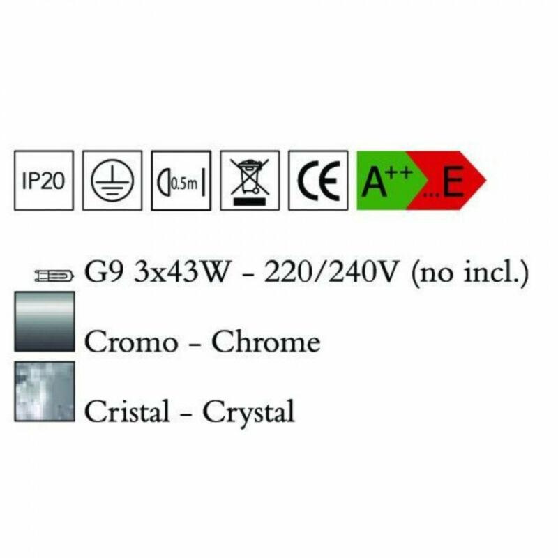 Mantra CRYSTAL 4600 egyágú függeszték üveg 3xG9 max. 40W G9 3 db IP20
