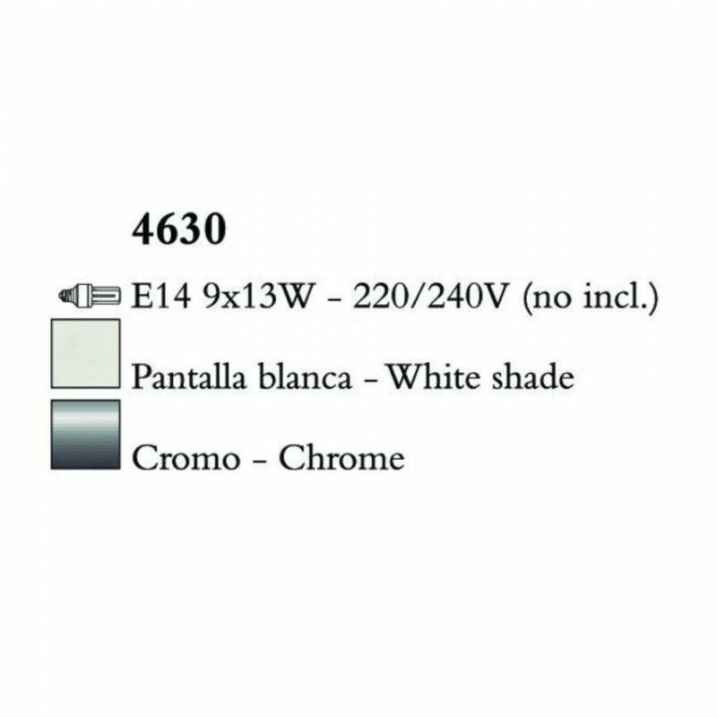 Mantra LOEWE CROMO 4630 csillárok nappaliba króm fém 9xE14 max. 13W E14 9 db IP20
