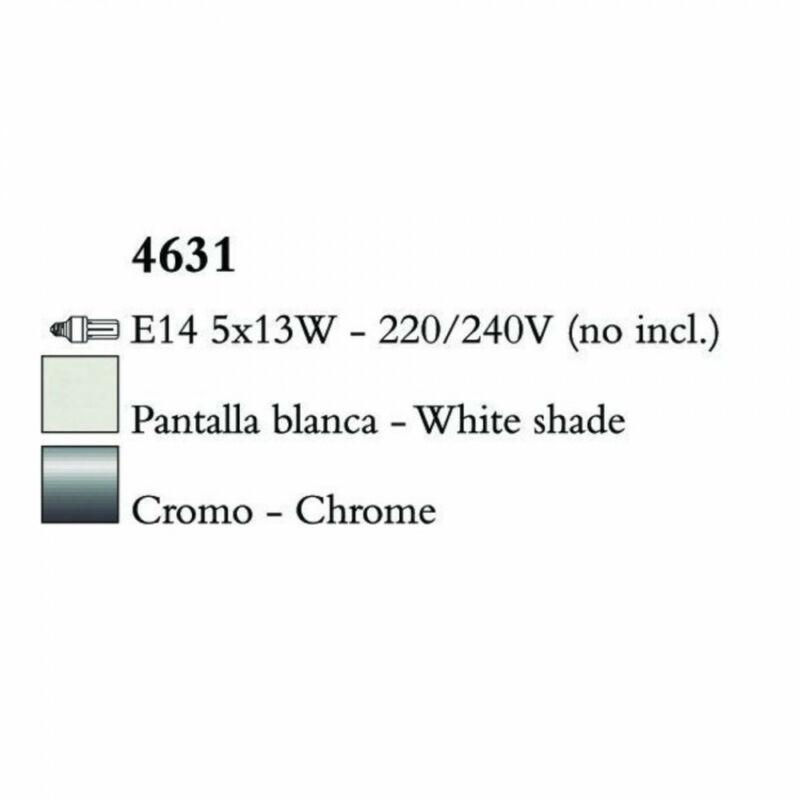 Mantra LOEWE CROMO 4631 csillárok nappaliba króm fém 5xE14 max. 13W E14 5 db IP20