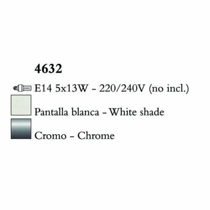 Mantra LOEWE CROMO 4632 csillárok nappaliba króm fém 5xE14 max. 13W E14 5 db IP20
