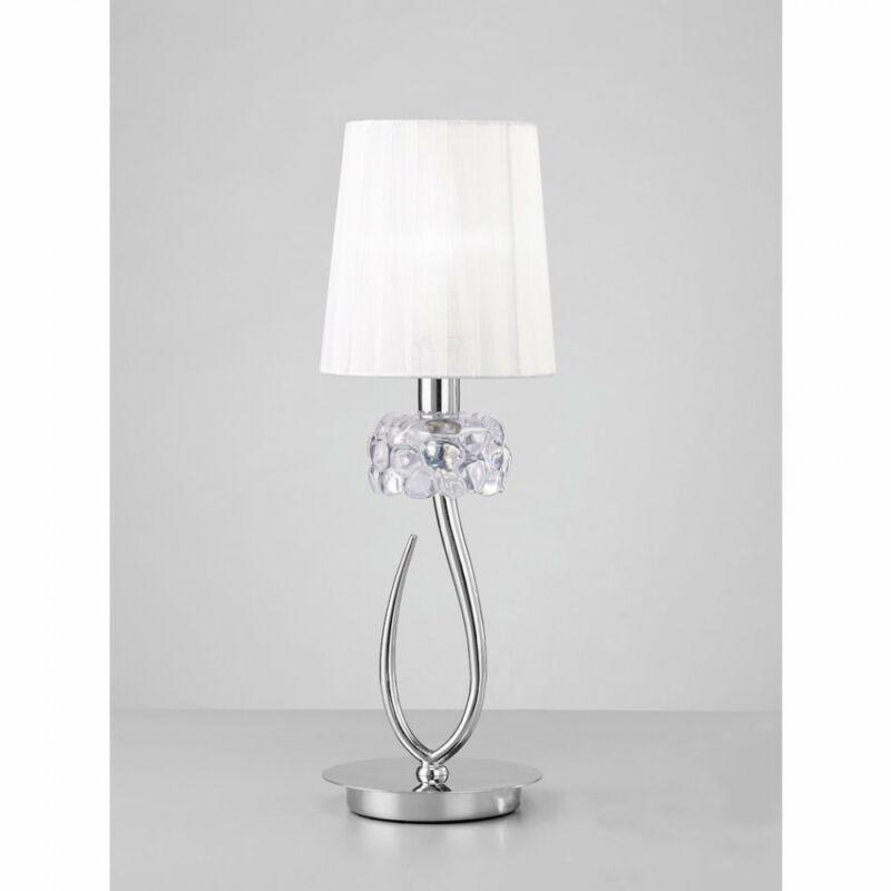 Mantra LOEWE CROMO 4637 asztali lámpa króm fém 1xE14 max. 13W E14 1 db IP20