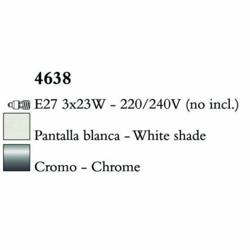 Mantra LOEWE CROMO 4638 állólámpa króm fém 3xE27 max. 23W E27 3 db IP20