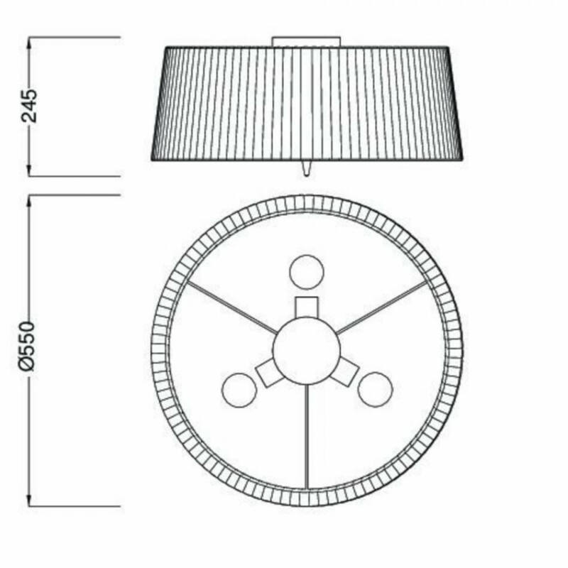 Mantra LOEWE CROMO 4640 mennyezeti lámpa króm fém 3xE14 max. 13W E14 3 db IP20