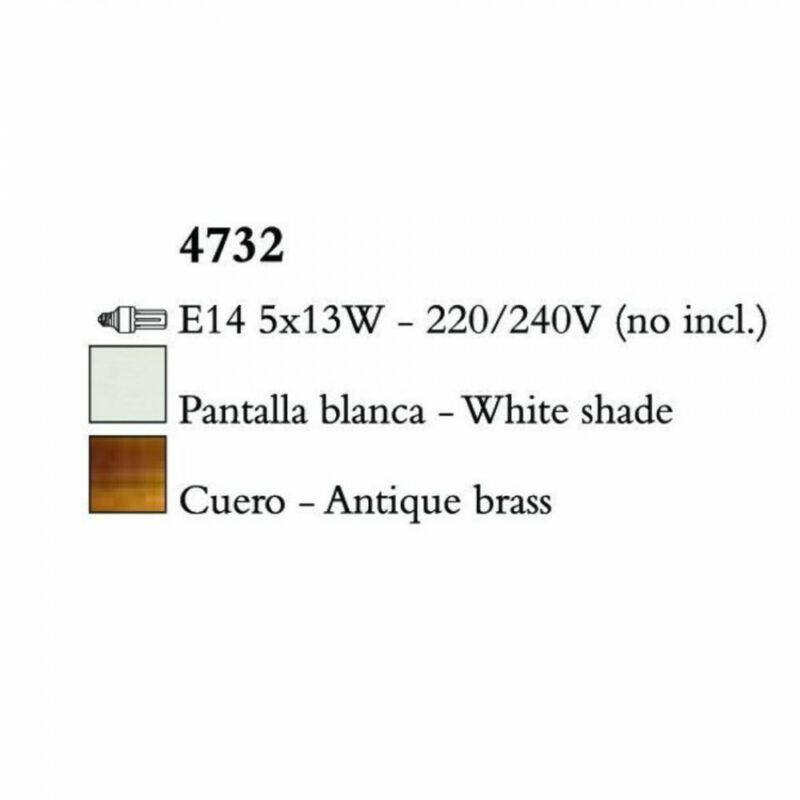 Mantra LOEWE CUERO 4732 csillárok nappaliba antik réz fém 5xE14 max. 13W E14 5 db IP20