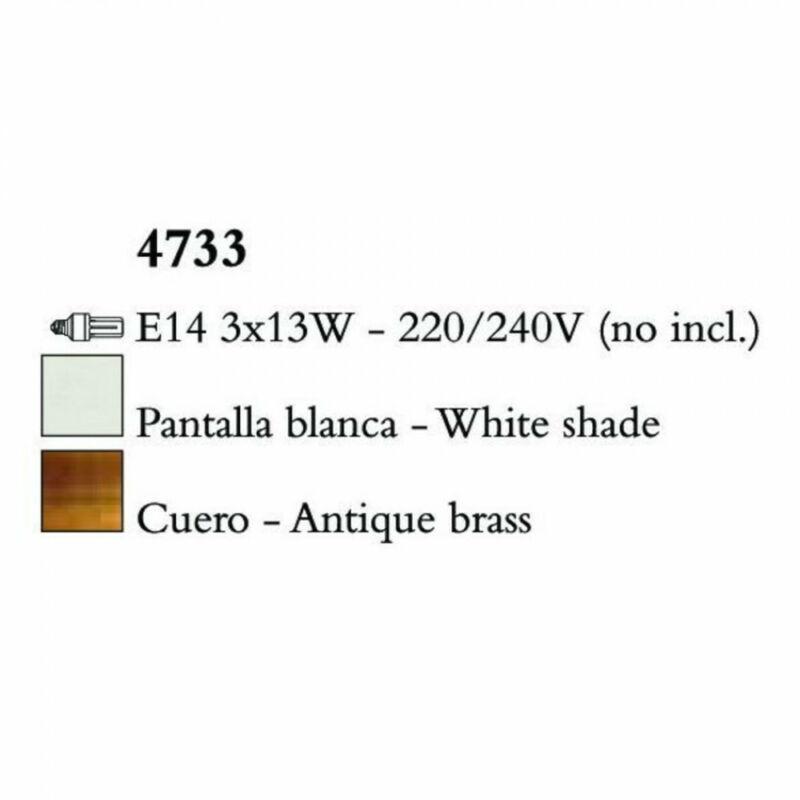 Mantra LOEWE CUERO 4733 csillárok nappaliba antik réz fém 3xE14 max. 13W E14 3 db IP20