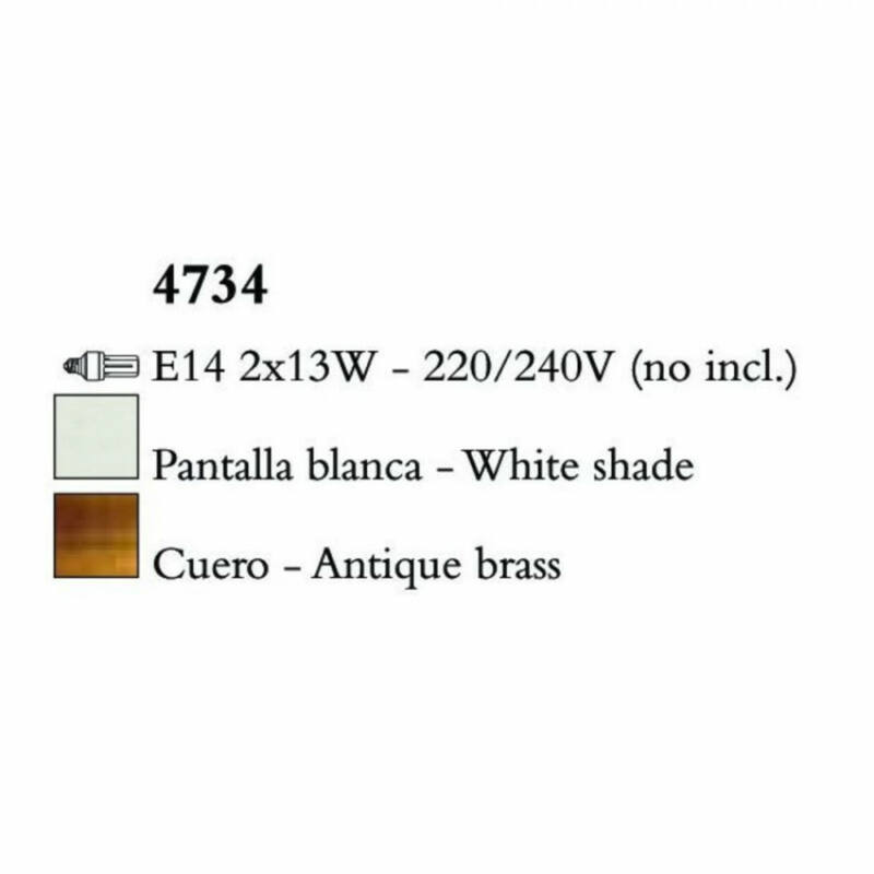Mantra LOEWE CUERO 4734 falikar antik réz fém 2xE14 max. 13W E14 2 db IP20