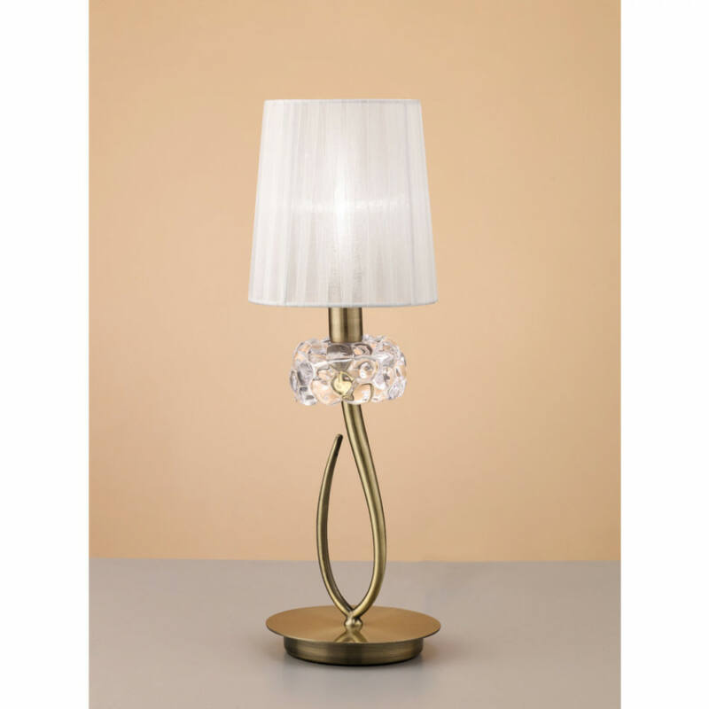 Mantra LOEWE CUERO 4737 asztali lámpa antik réz fém 1xE14 max. 13W E14 1 db IP20
