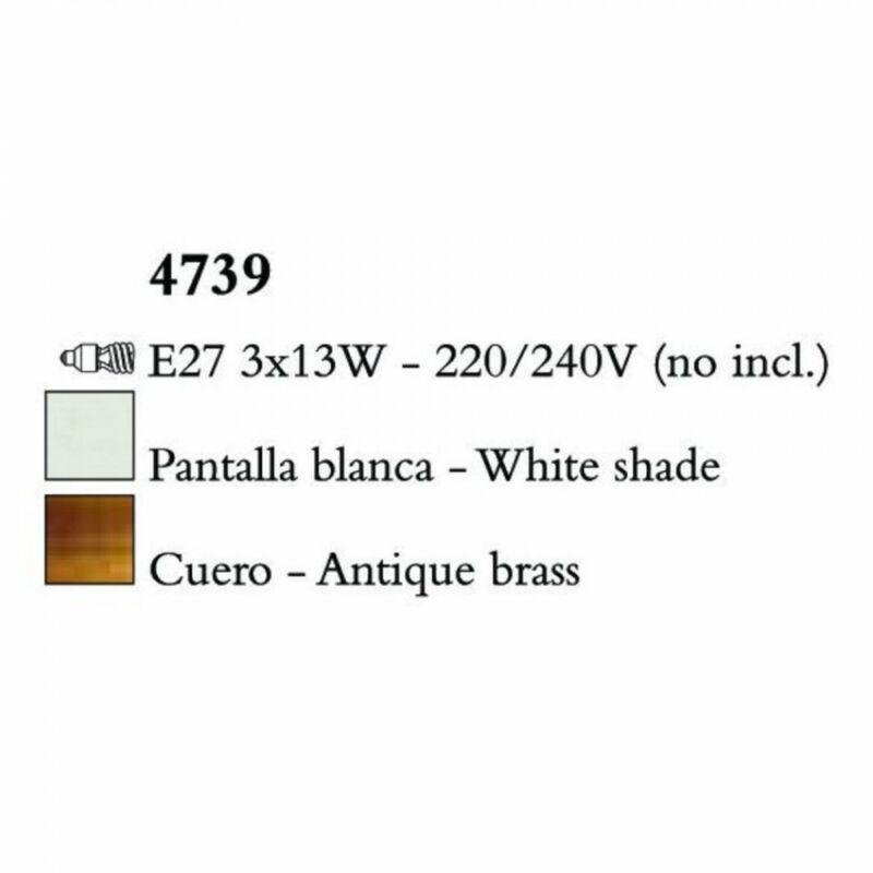 Mantra LOEWE CUERO 4739 csillárok nappaliba antik réz fém 3xE14 max. 13W E14 3 db IP20