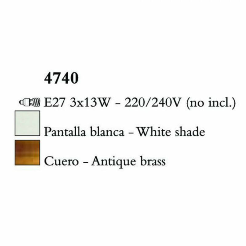 Mantra LOEWE CUERO 4740 mennyezeti lámpa  antik réz   fém   3xE14 max. 13W   IP20