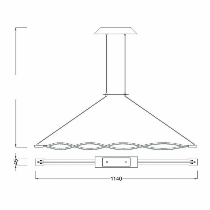 Mantra SAHARA 4860 többágú függeszték króm fém 2xLED max. 18W LED 2 db 2520 lm 2700 K IP20