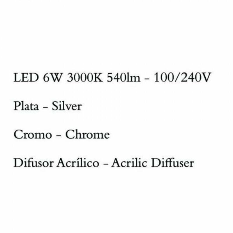 Mantra SAHARA 4863 falikar króm fém 1xLED max. 6W LED 1 db 540 lm 2700 K IP20