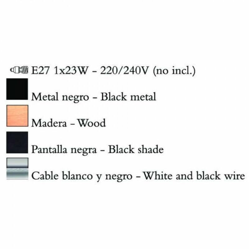 Mantra NORDICA 4921 állólámpa fém 1xE27 max. 23W E27 1 db IP20