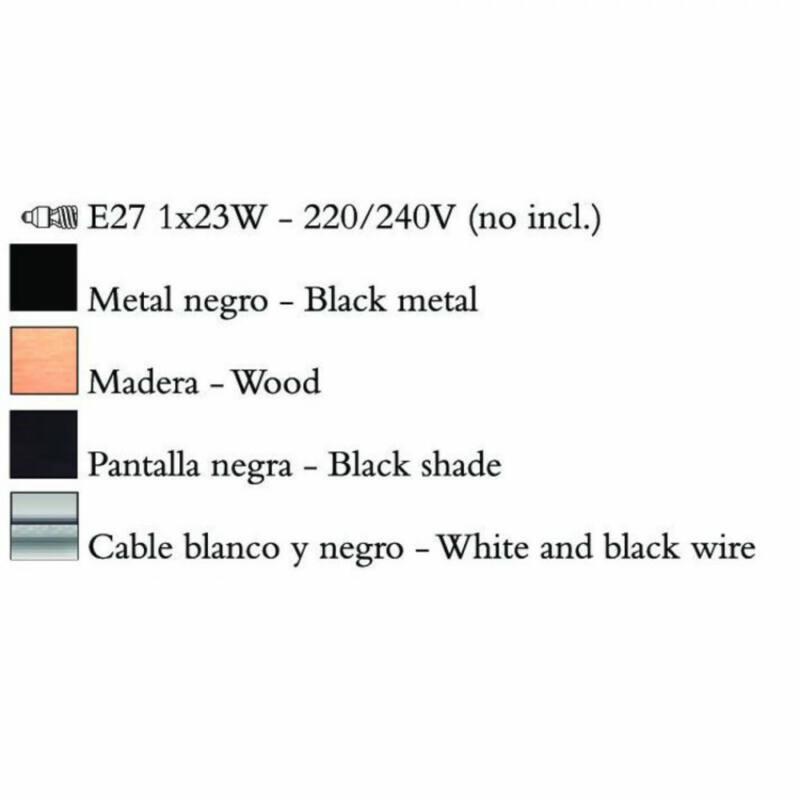 Mantra NORDICA 4927 egyágú függeszték fém 1xE27 max. 23W E27 1 db IP20
