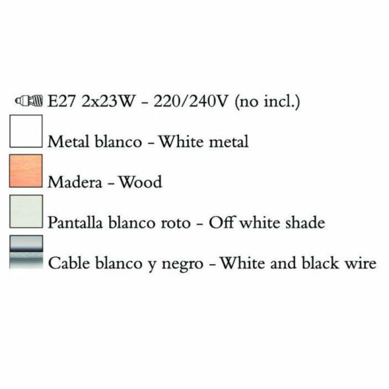 Mantra NORDICA 4930 többágú függeszték fém 2xE27 max. 23W E27 2 db IP20