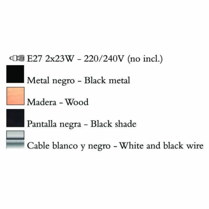 Mantra NORDICA 4931 többágú függeszték fém 2xE27 max. 23W E27 2 db IP20