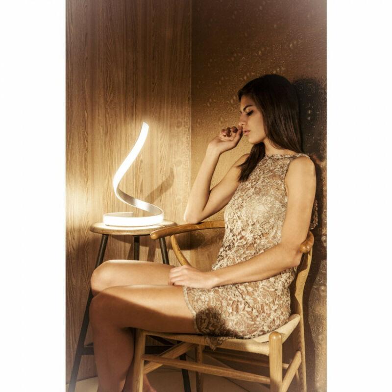 Mantra NUR 4986 ledes asztali lámpa króm fém 1xLED max. 15W LED 1 db 1200 lm 2700 K IP20