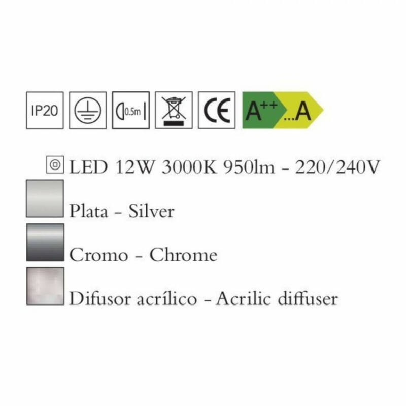 Mantra KNOT 4988 fali lámpa króm fém LED 12W LED 950 lm 2700 K IP20
