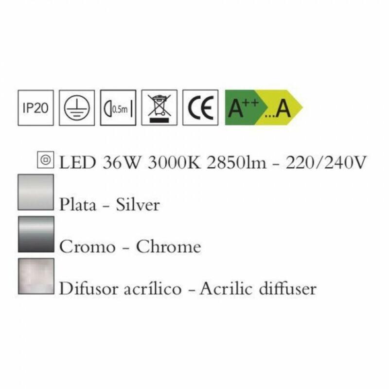 Mantra KNOT 4989 mennyezeti lámpa  króm   fém   LED 36W   2850 lm  2700 K  IP20
