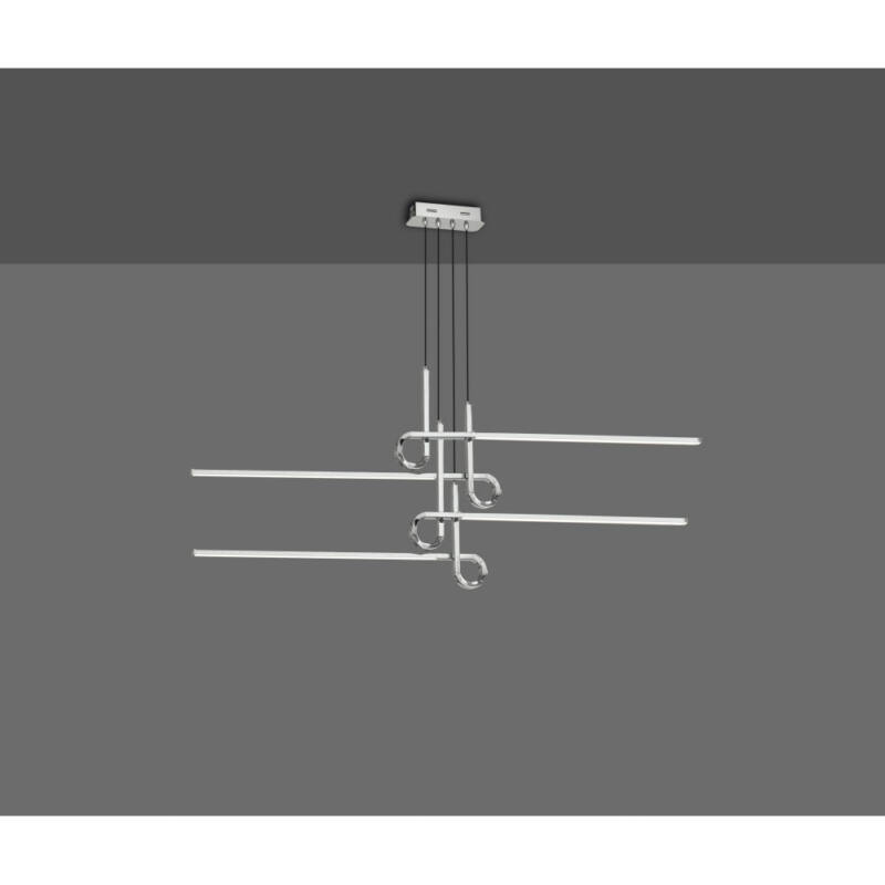 Mantra CINTO CHROME 6121 modern függeszték króm alumínium led 42W 3360lm 3360 lm 3000 K IP20