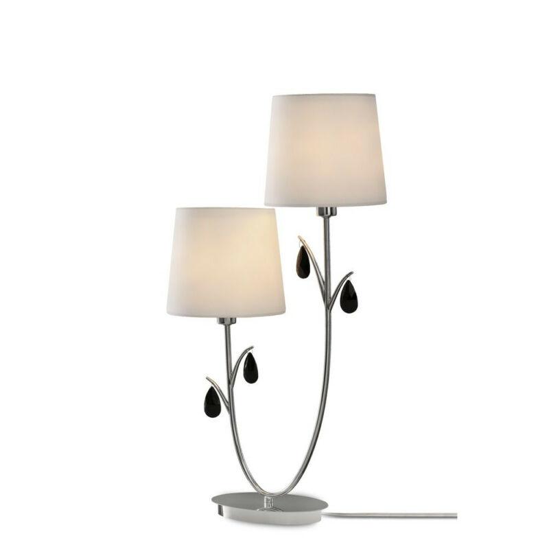 Mantra ANDREA CHROME 6318 éjjeli asztali lámpa króm fém 2*E14 max20W E14 2 db IP20