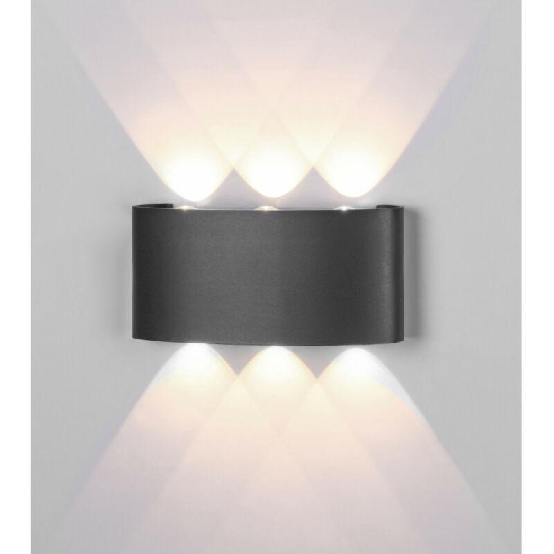 Mantra ARCS 6540 kültéri fali led lámpa sötétszürke alumínium led 6W 450lm 450 lm 3000 K IP54