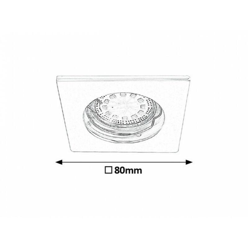 Rábalux Lite 1053 álmennyezetbe építhető lámpa króm fém GU10 1x MAX 50 GU10 3 db 240 lm 3000 K IP44/ IP40 A+