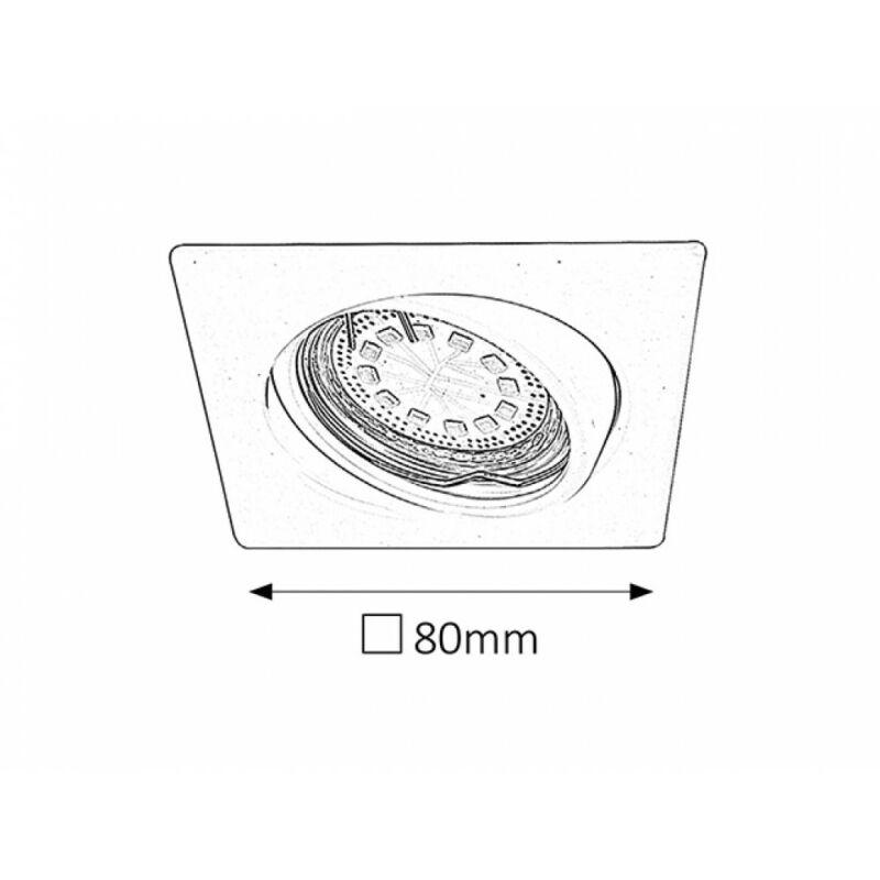 Rábalux Lite 1056 beépíthető spotlámpa króm fém GU10 1x MAX 50 GU10 3 db 240 lm 3000 K IP40 A+