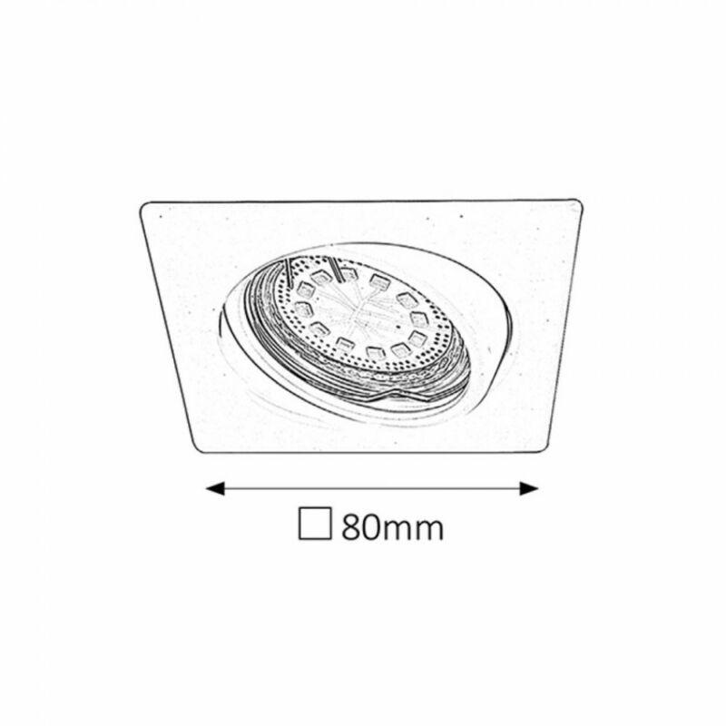 Rábalux Lite 1057 beépíthető spotlámpa szatin króm fém GU10 1x MAX 50 GU10 3 db 240 lm 3000 K IP40 A+