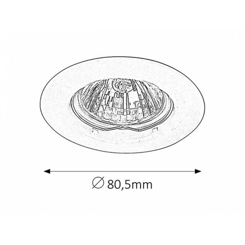 Rábalux Spot relight 1089 álmennyezetbe építhető lámpa szatin króm fém GU5.3 12V 1x MAX 50 GU5.3 1 db IP20